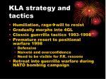 kla strategy and tactics