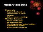 military doctrine