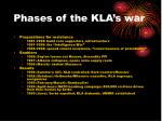 phases of the kla s war