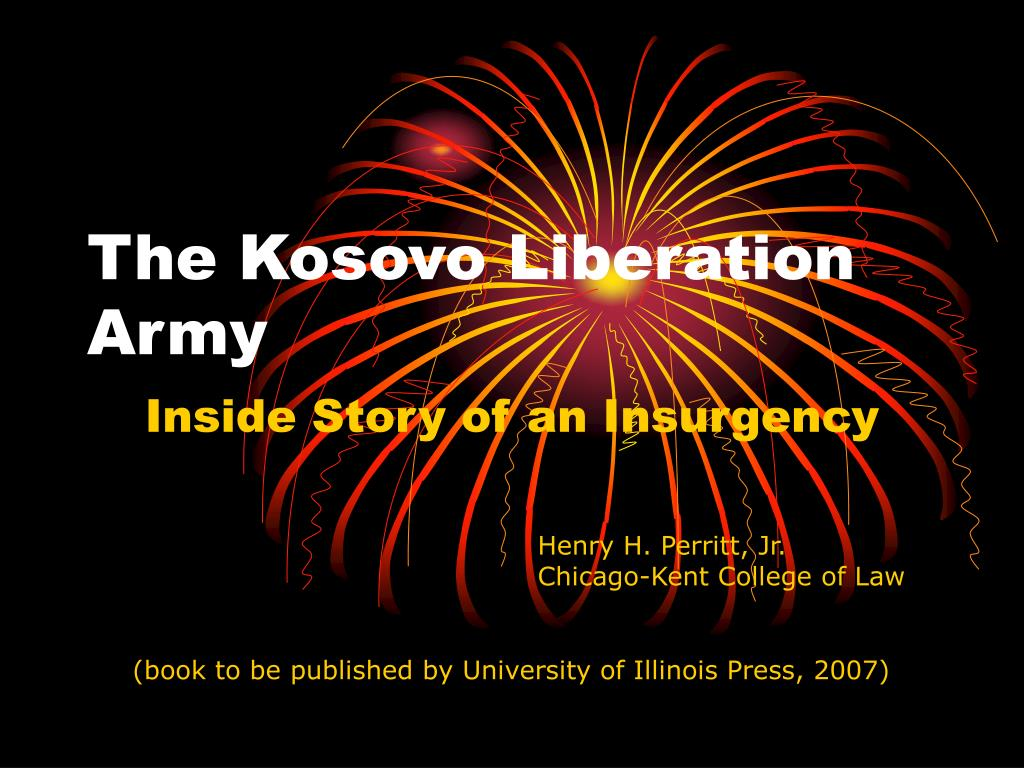 the kosovo liberation army l.