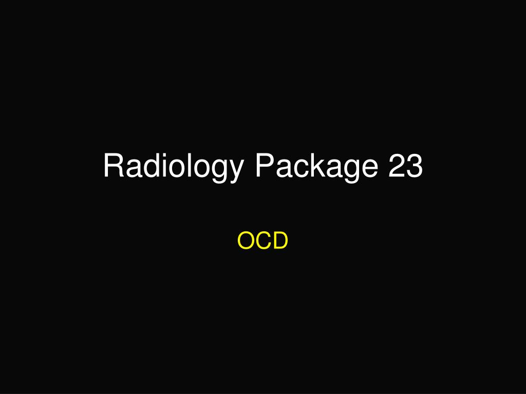 radiology package 23 l.