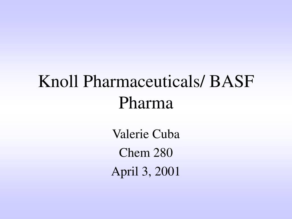 knoll pharmaceuticals basf pharma l.