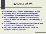 accesso al ps
