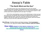 aesop s fable