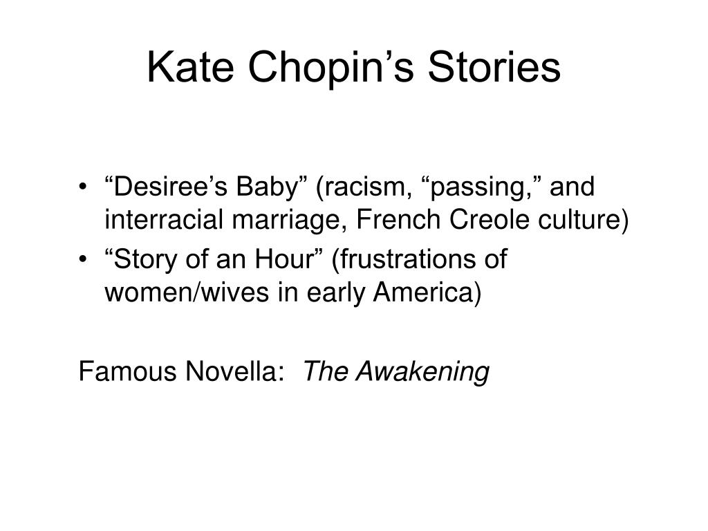 Kate Chopin's Stories