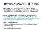 raymond carver 1938 1988