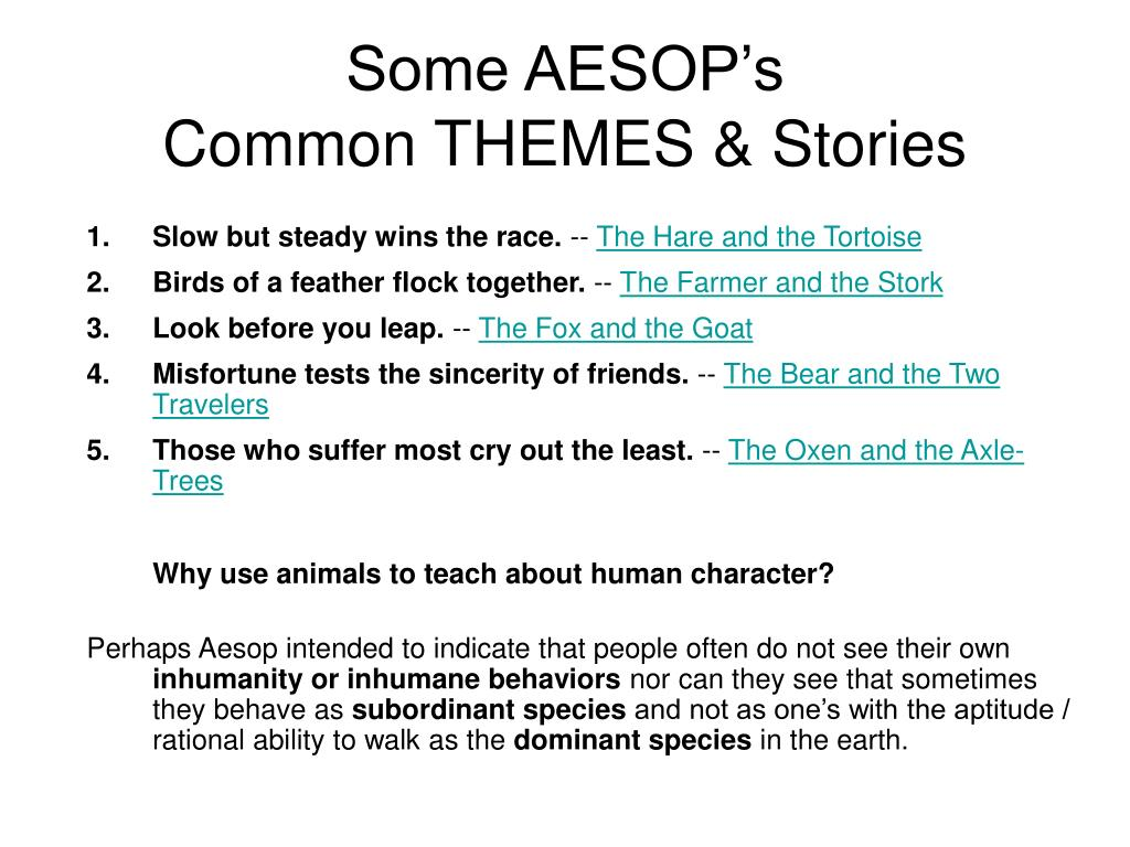 Some AESOP's