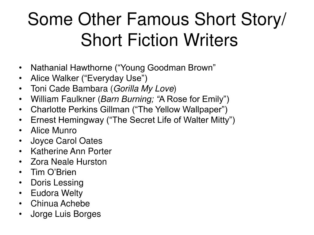 Some Other Famous Short Story/