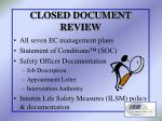 closed document review