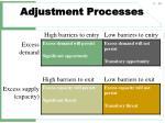 adjustment processes