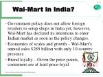 wal mart in india