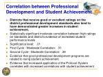 correlation between professional development and student achievement