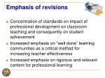 emphasis of revisions