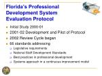 florida s professional development system evaluation protocol