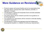 more guidance on revisions
