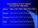 salud p blica en alc idioma lilacs sp 1980 2002