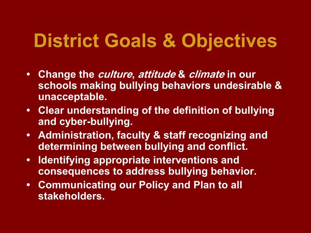 District Goals & Objectives
