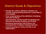 district goals objectives
