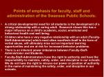points of emphasis for faculty staff and administration of the swansea public schools