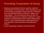 promoting cooperation caring