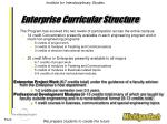 enterprise curricular structure