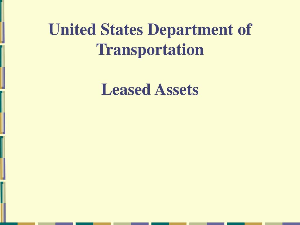 united states department of transportation l.