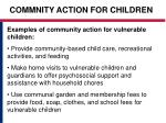 commnity action for children