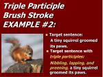 triple participle brush stroke example 2