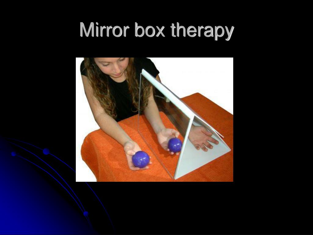 Mirror box therapy