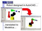 robot designed in autocad