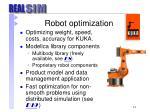 robot optimization