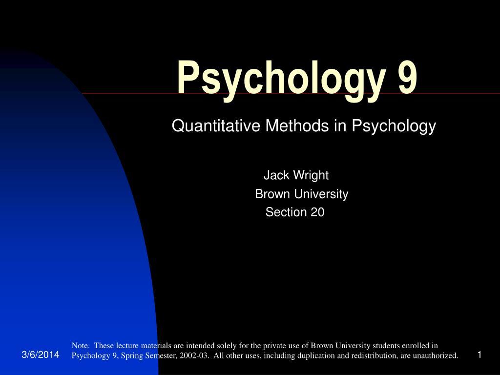 psychology 9 l.