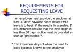requirements for requesting leave