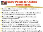 entry points for action some ideas