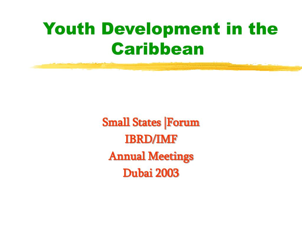 youth development in the caribbean l.
