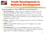 youth development is national development