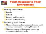 youth respond to their environment