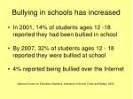 bullying in schools has increased