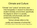 climate and culture