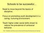 schools to be successful