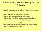 the challenge of assessing school climate