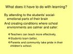 what does it have to do with learning