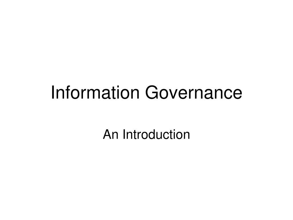 information governance l.