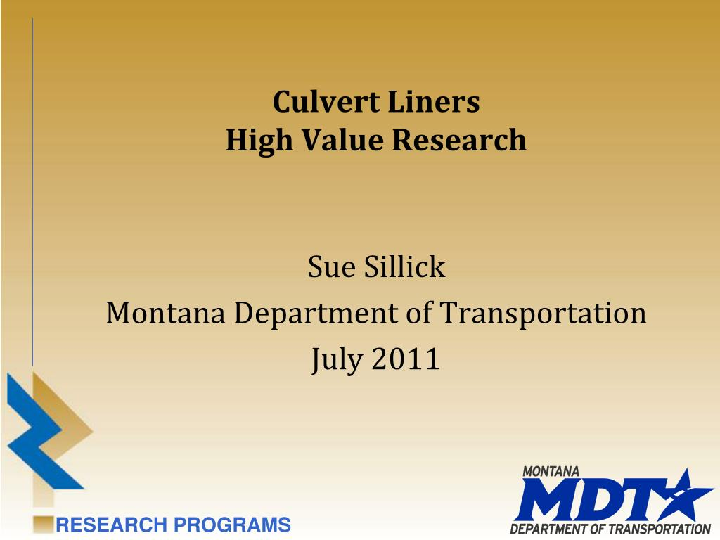 culvert liners high value research l.