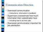 communication direction