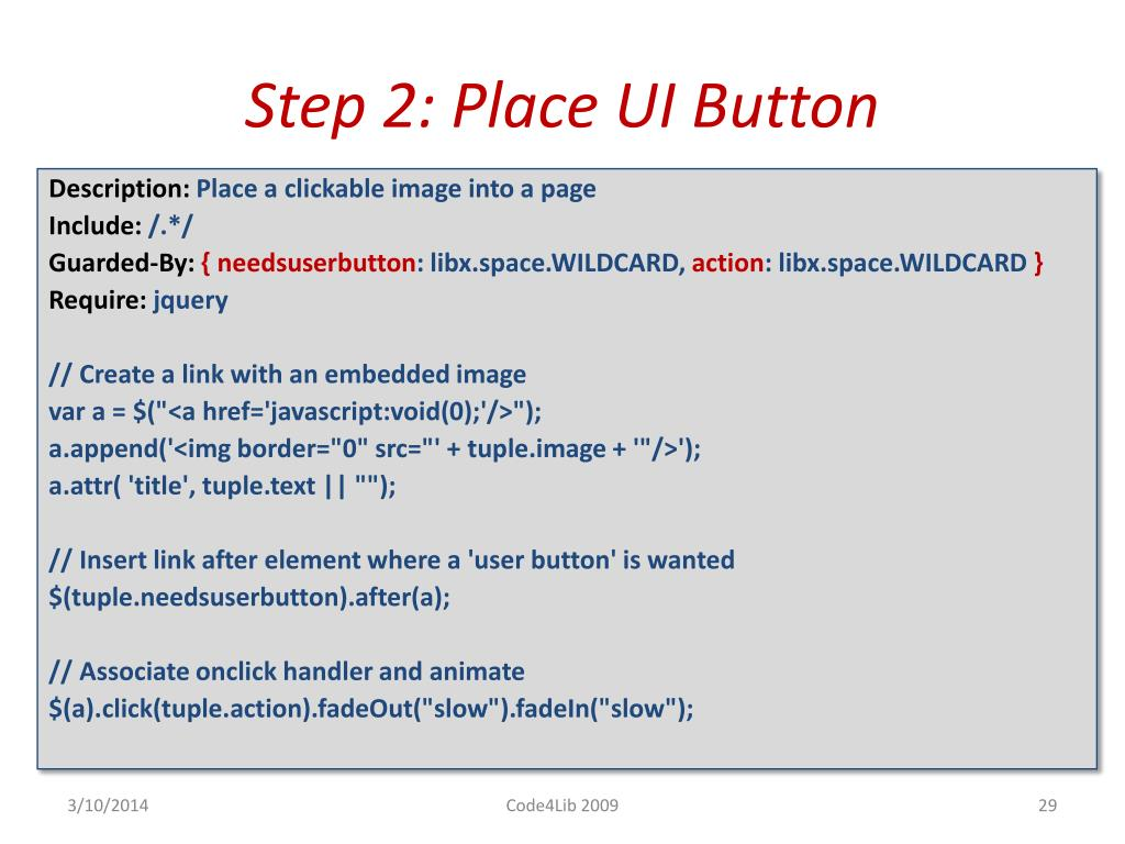 Step 2: Place UI Button
