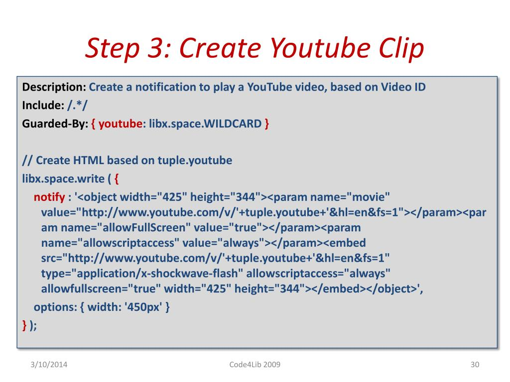 Step 3: Create Youtube Clip