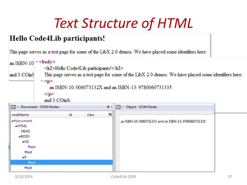 Text Structure of HTML