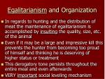 egalitarianism and organization11