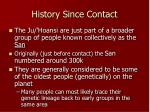 history since contact